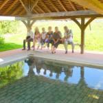 Pause au lavoir dans la vallée du Loir, une belle ballade sous un beau soleil, un dimanch d'été !