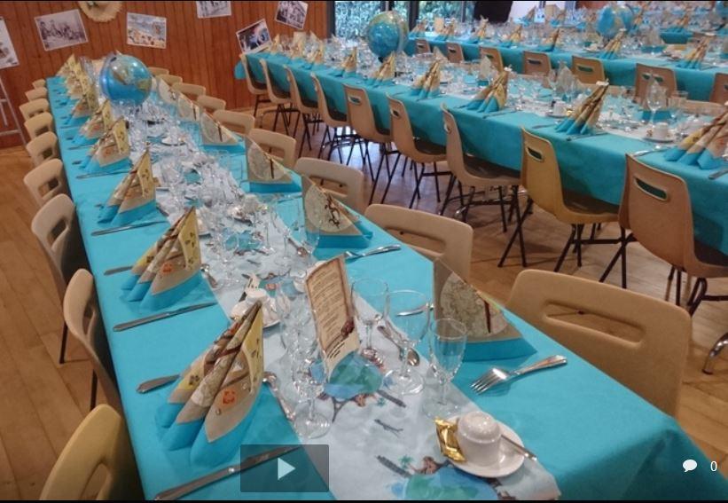 Les tables ont revêtues les couleurs des Mappmondes !